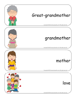 Giant word flashcards-Mothers and grandmothers