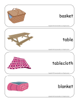 Giant word flashcards-Picnics