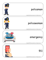 Giant word flashcards-Police-1
