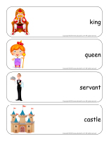 Giant word flashcards-Royalty