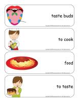 Giant word flashcards-Sense of taste-3