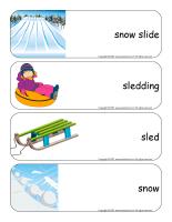 Giant word flashcards-Sledding-1