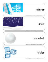 Giant word flashcards-Snow castles-1