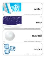 Giant word flashcards-Snow castles-1