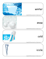 Giant word flashcards-Snowflakes-1