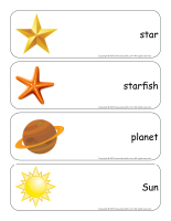 Giant word flashcards-Stars
