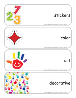 Giant word flashcards-Stickers-1