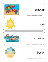 Giant word flashcards-Summer-1