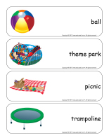 Giant word flashcards-Summer-3
