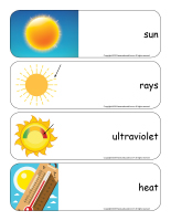 Giant word flashcards-Sunshine-1