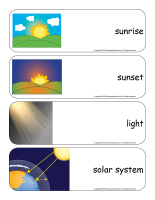 Giant word flashcards-Sunshine-3