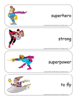 Giant word-flashcards-Superheroes