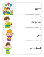 Giant word flashcards-Surprises-1