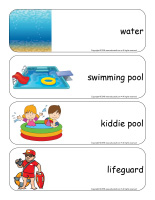 Giant word flashcards-Swimming-1