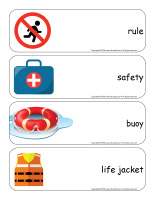 Giant word flashcards-Swimming-3
