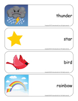 Giant word flashcards-The sky-2