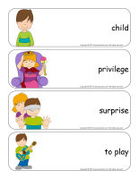Giant word flashcards-Universal Children's Day-1