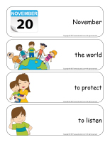 Giant word flashcards-Universal Children's Day-3