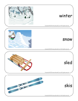 Giant word flashcards-Winter-1