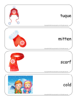 Giant word flashcards-Winter-2