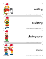 Giant word flashcards hristmas-Creative workshops-2