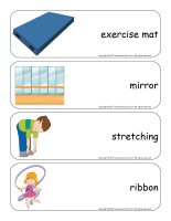 Giants word flashcards-Gymnastics-1