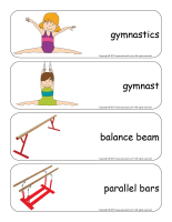 Giants word flashcards-Gymnastics-2