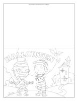 Halloween greeting card-BW