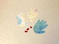 Handprint fish puppets-3