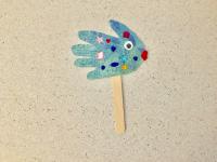 Handprint fish puppets-5