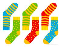 Hanging pairs of socks-1