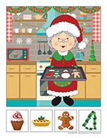 Hunt and seek-Christmas-Baking
