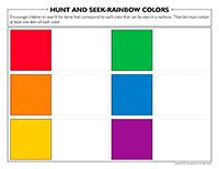 Hunt and seek-Rainbow-colors