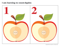 I am learning to count-Apples