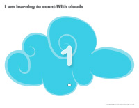 I am learning to count-With clouds