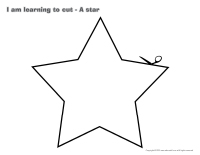 I am learning to cut-A star