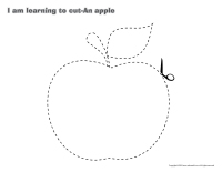 I am learning to cut-An apple-1