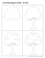 I am learning to draw-A tree