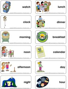Time-Flash card word