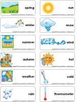Word-flashcards-Four-seasons