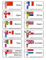 Word flashcards - Children-around-the-world