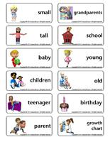 Word flashcards-I am growing