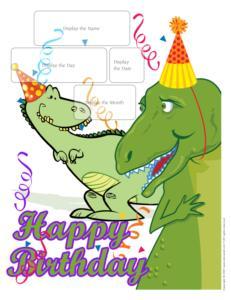 Birthdays-Dinausore