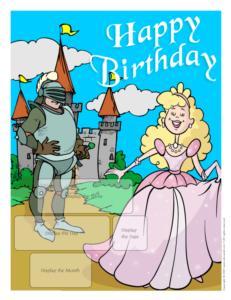 Birthdays-Knight and princess