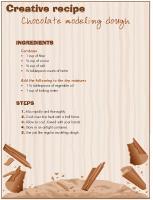 Creative-recipe - Chocolate modeling dough