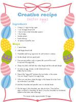 Creative recipe Easter eggs