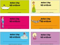 Gift certificates - Mothers Day
