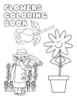 Coloring-pages-theme-Flowers