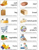 Word flashcards - The grocery store