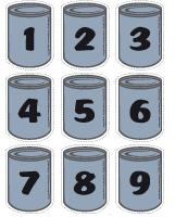 Cans numbers 0 to 9